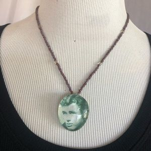 James Dean Handmade pendant on  beaded necklace